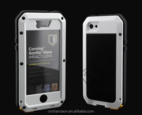 High quality Metalic tri-proof waterproof shockproof case for iphone 5 6 6s 6plus CO-WPF-109