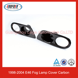 Car Fog Lamp Cover For BMW Parts E46 Carbon Fiber Cover