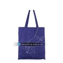Custom printed purple irregular graphics canvas wholesale tote bags men with handles