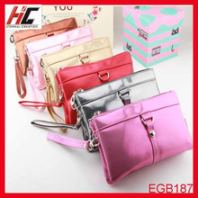 2015 New Arrival hot selling promotional wholesale candy color pu makeup bag for women