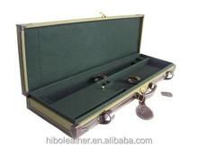 Canvas and leather Locking wooden Gun case