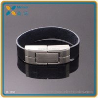 Promotional USB 2.0 Leather Wristband USB Memory Bracelet USB Flash Drive