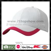 Two colours block unisex sport custom cap