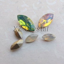 Wholesale White/Green/Pink Opal Marquise Crystal Stones Horse Eye Crystal Rhinestones Jewelry Accessories