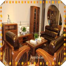 Philippines teak wood sofa set designs furniture hot sell