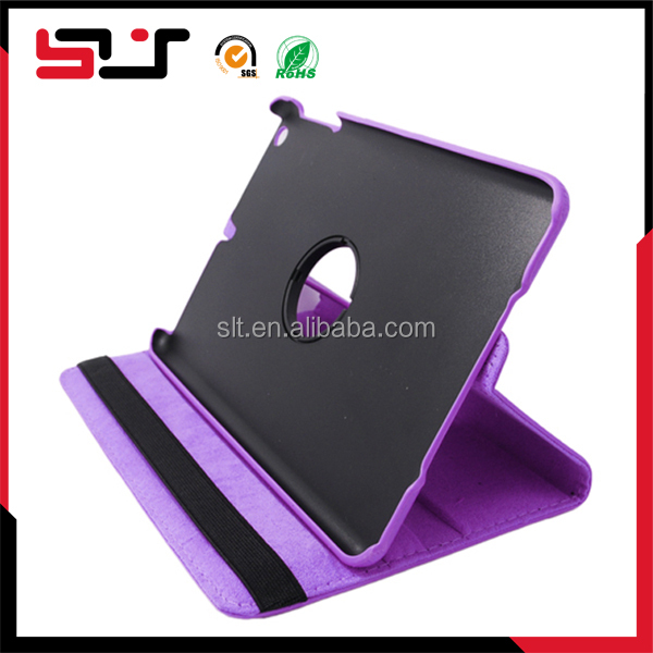 Slim shell impact flexible leather stand case for ipad mini 2