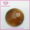 Round Shape Colorful faceted flat back cat's eye gemstone from China