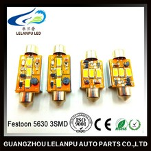 led auto lamp led festoon 5630 3SMD 41mm canbus led dome light
