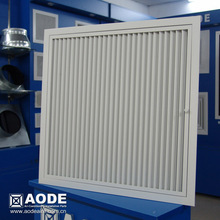 Aluminium Hinged Linear Bar grille square air Diffuser with C/W filter for HVAC / ventilation made by China manufacturer