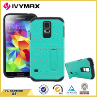 Slim armor attractive diamond case for Samsung S5 China factory wholesale case