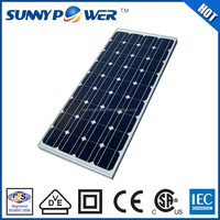 Most efficient Monocrystalline Full certificate confirmed great sale 120w china solar panel