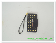 The cover surface decorative metal rivet and carrying a small mobile phone sets