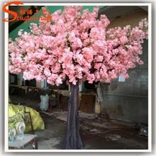 Artificial flor de cerezo decoración de la boda de plástico venta al por mayor cherry blossom mini cherry blossom tree