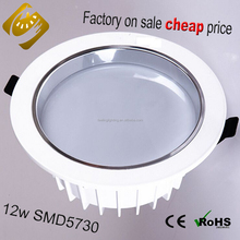 Hot sale!! cheap factory price promotion aluminum alloy led downlight 12w warm white