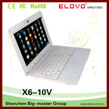 stream-line sexy laptop computer 10inch Android4.1 complete function with web camera laptop computer factory direct sale