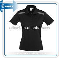 High quality fashion ladies custom cotton polo shirt,polo collar striped t shirt wholesale