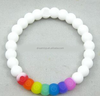gay community Different colors silicone bead, silicone bead bracelet