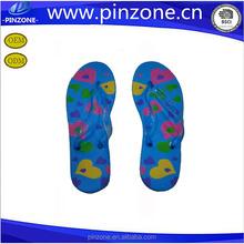 EVA flip flops for low price Wholesale cheap woman blue flip flops