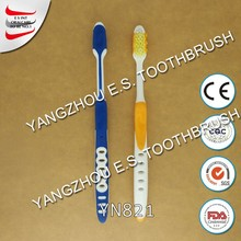 best quality nylon bristle adult home use pierced handle human toothbrush