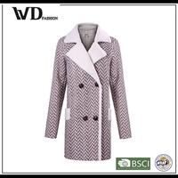 Latest fashion long top design woman coat winter, coat for women