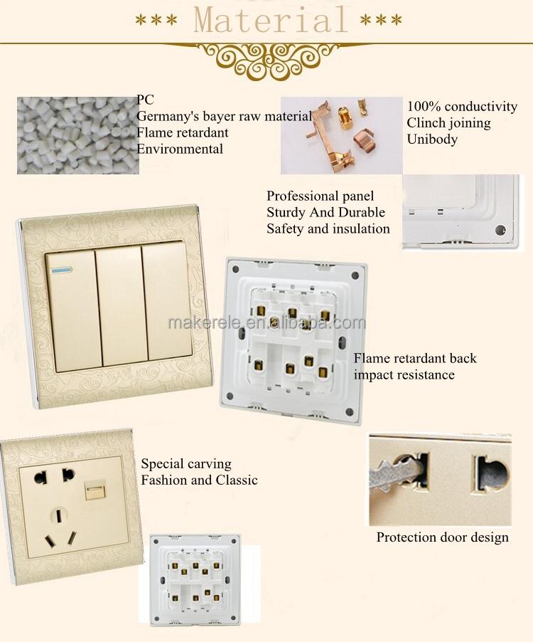 MK-WS05USB useful multifunctiion usb electrical wall switch socket ...