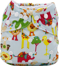 Ohbabyka JC trade diaper washable pul fabric colored snaps China cloth diapers