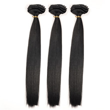 BHF Hair 24 inch Clip in Hair Extensions Brazilian Weave Rich Copper Red, Remy Clip in Hair Extension Bangs