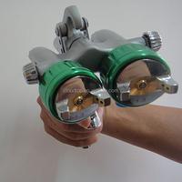 2015 best on sales wall key safe two head double nozzle gun polyurethane spray foam machine for sale paint mirror chrome car pai