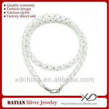 Xd MF025 4 мм шелк чистая кожа шнуры с 925 стерлингового серебра омар кожа ожерелье шнур