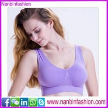 New arrival purple plus size seamless sports bra