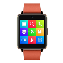 2015 new IPS touch screen IP54 waterproof android hand watch mobile phone with changeable leather strap