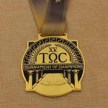 Promotion custom metal tournament of champions medal