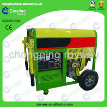 open type recoil/electric start air cooled single cylinder engine power 5kw diesel generator