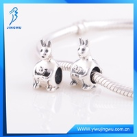Fine Jewelry Antique S925 Sterling Silver Cute Rabbit Charms