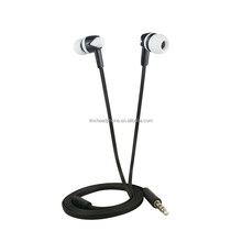 High quality good looking flat cable earphone in ear best earphone