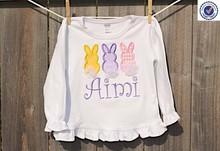 Wholesale Cotton White Kids Baby Girls Ruffle Long Sleeve T Shirt