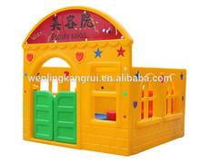 Hdpe cubiertas para niños casa de juego de plástico
