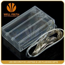 AA Battery Powered Ultra thin micro silver small battery operated led lights for clothing, mini led lights for clothing