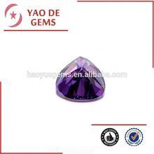 Trillion Cut Triangle Shape Gem Stone Cubic ZIrconia Amethyst Stone/synthetic diamonds