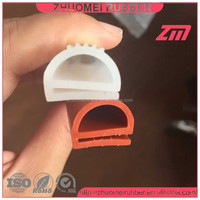 e shahped silicone rubber extrusions for oven door
