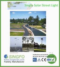 160W high efficiency LED solar street lighting IP 65