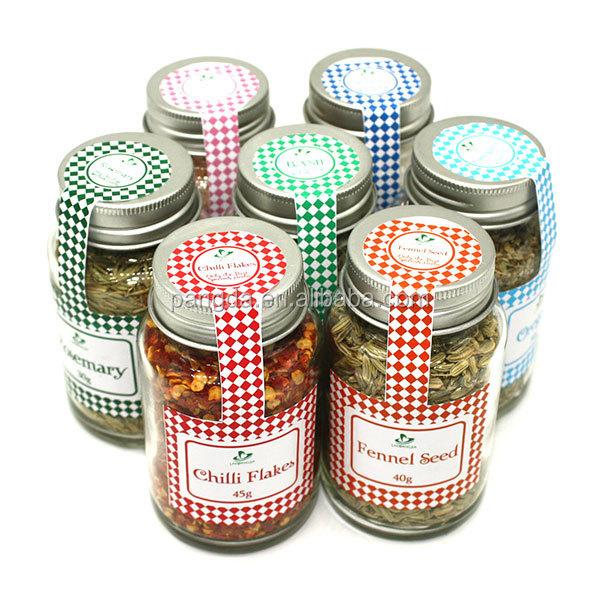 100 ml mini verre pot pices avec capsule en aluminium - Pot a epice magnetique ...