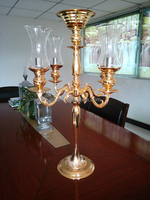 New product bulk glass votive repalcement long-stemmed glass candle holder for wedding celebration