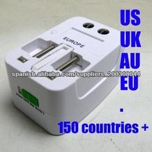 Adaptador Del Zócalo De Energía Universal Del Recorrido Del Enchufe Del Enchufe De 150 Países
