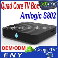 Latest ES8 Amlogic S802 Quad Core Android 4.4 Smart TV Box XBMC Media Player 4K Miracast S802 XBMC 3D Blu-ray 4K Wifi player