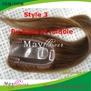 Poly skin base closure virgin filipino hair clip on top closures 5x5 20inch 150% thick density