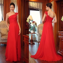 Wholesale 80045 agency beading one shoulder evening dress /lady's evening party dress