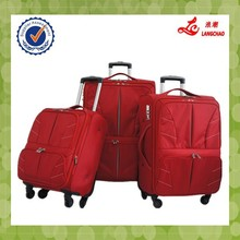 Red Color EVA Aluminum Trolley Universal Wheels Safe Lock China Wholesale Travel Bag