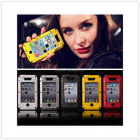NEW ALUMINUM METAL WITH GORILLA GLASS WATER SHOCK DUST PROOF CASE FOR IPHONE5/5s