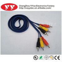 High Quality AUX Car Audio 3RCA Male To 3RCA Male Cable